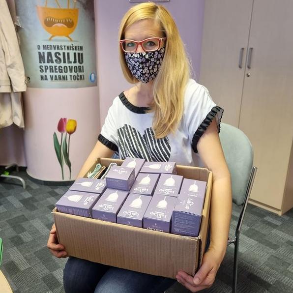 V mesecu maju smo punce iz LaliCup v sodelovanju s CSD Ljubljana podarile 30 menstrualnih kodelic.